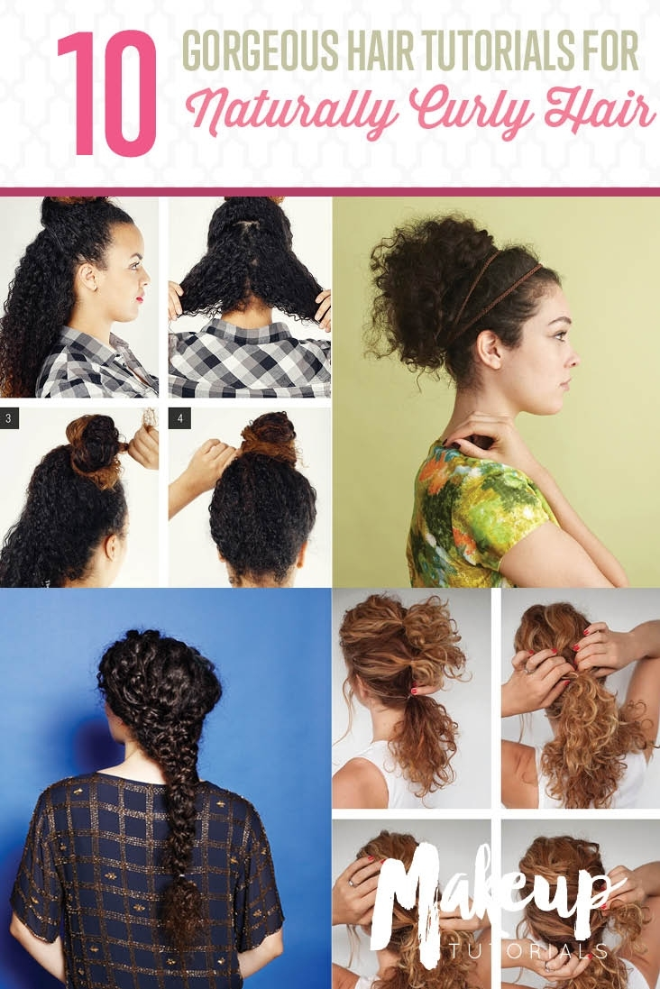 10 Easy Hairstyle Tutorials For Naturally Curly Hair with regard to Haircut For Wavy Unmanageable Hair