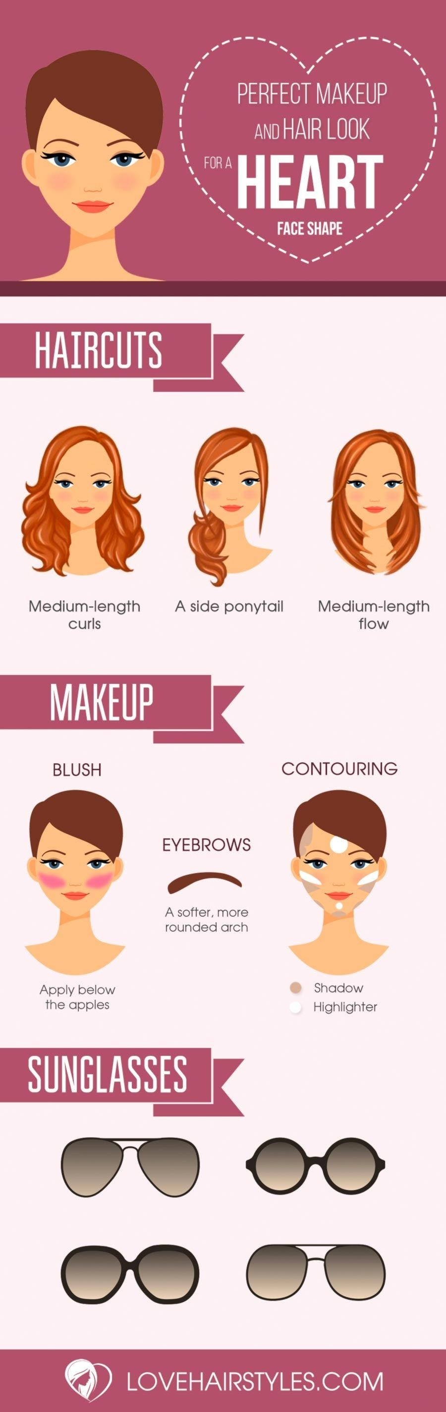 10 Gorgeous Haircuts For Heart Shaped Faces | Makeups | Pinterest in 2018 Haircut For Heart Shaped Face