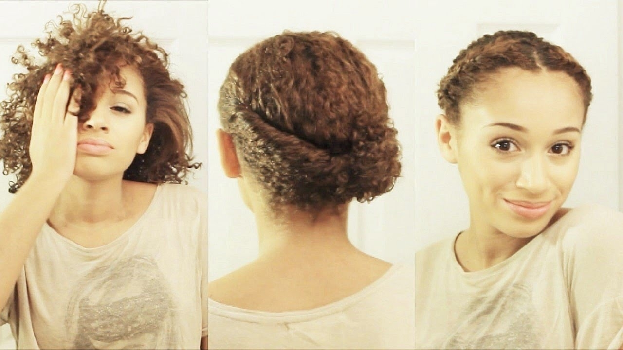 10 Hairstyles For Short Curly Hair - Youtube intended for Haircuts For Curly Puffy Hair
