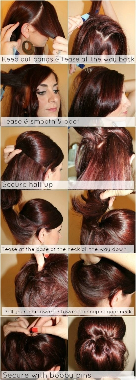 12 Trendy Low Bun Updo Hairstyles Tutorials: Easy Cute - Popular with regard to Diy Haircut For Thin Hair