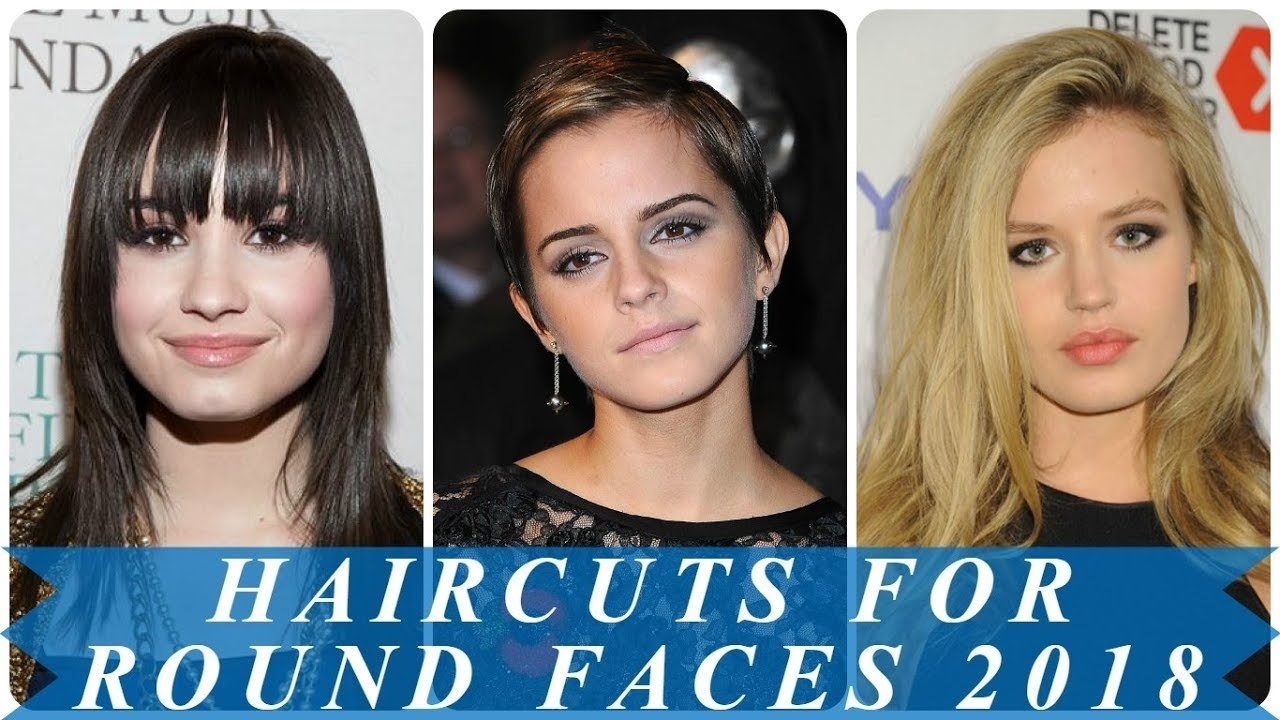 15 Amazing Short Haircuts For Women With Round Faces 2018 - Youtube intended for 2018 Hairstyle Female For Round Face