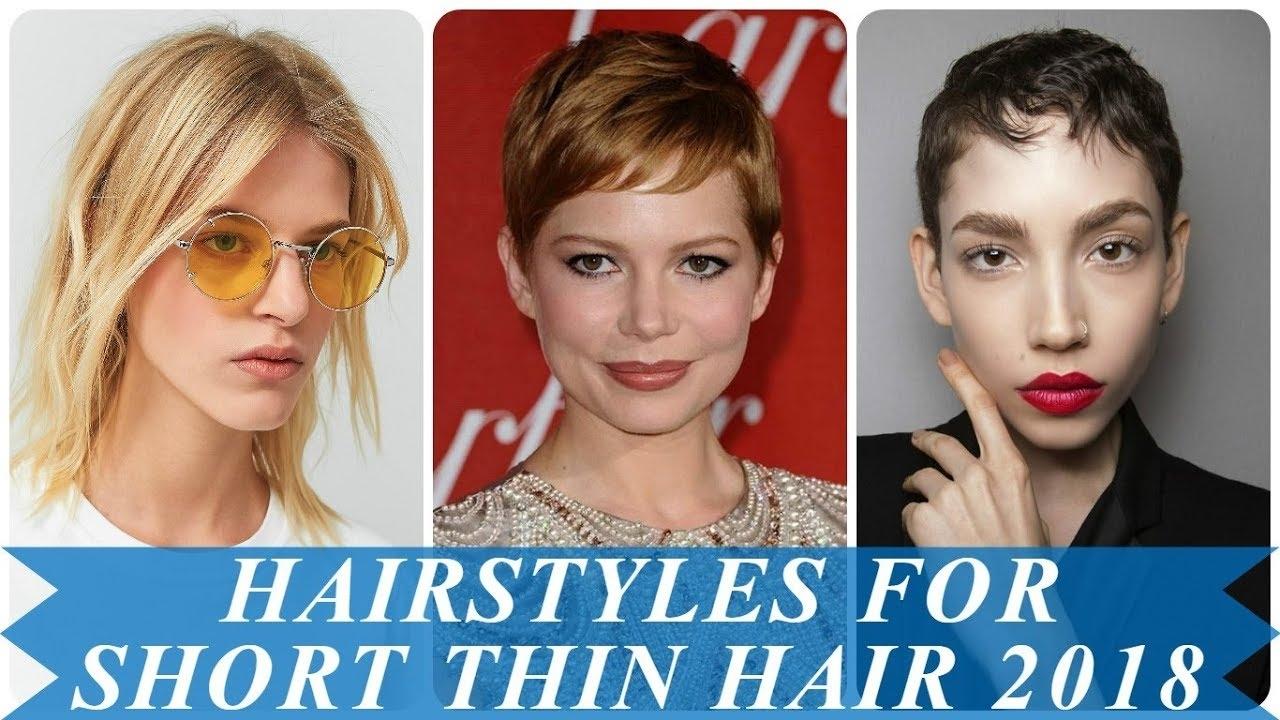 Hair Styles For Short Fine Hair 2018: 2018 Haircuts Female Fine Hair