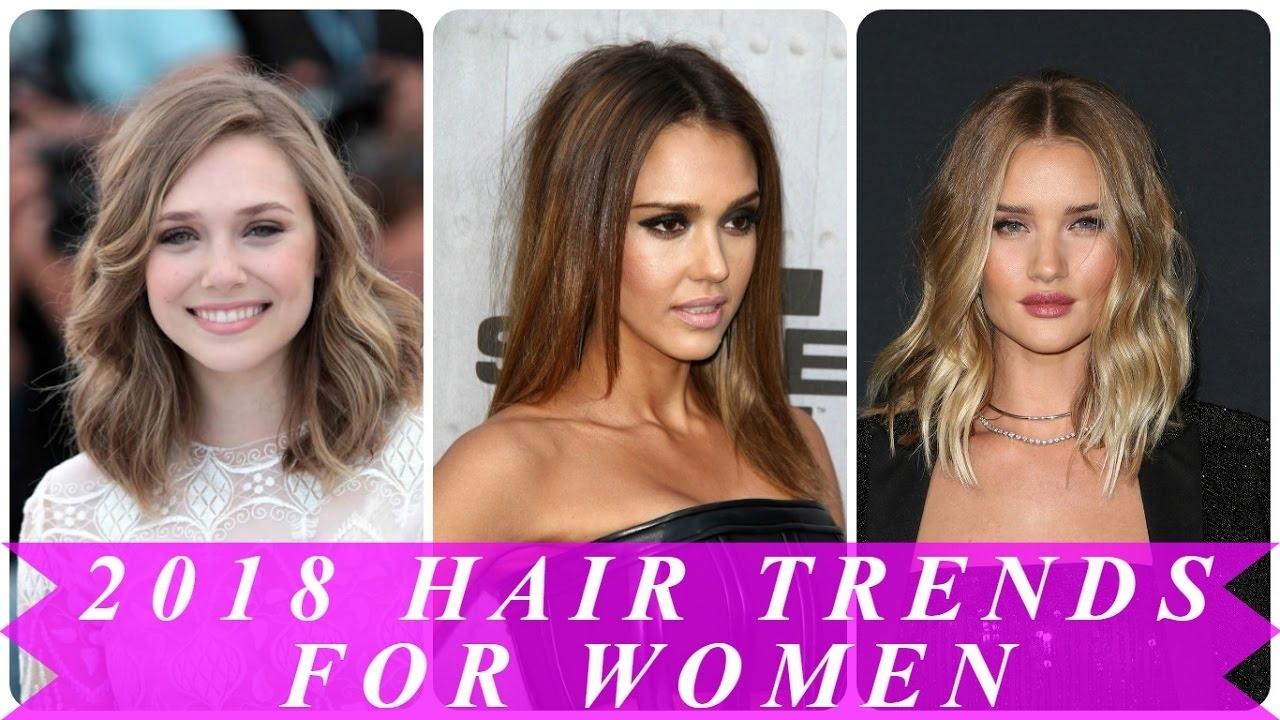 2018 Hair Trends For Women - Youtube intended for 2018 Haircut Trends Female Long