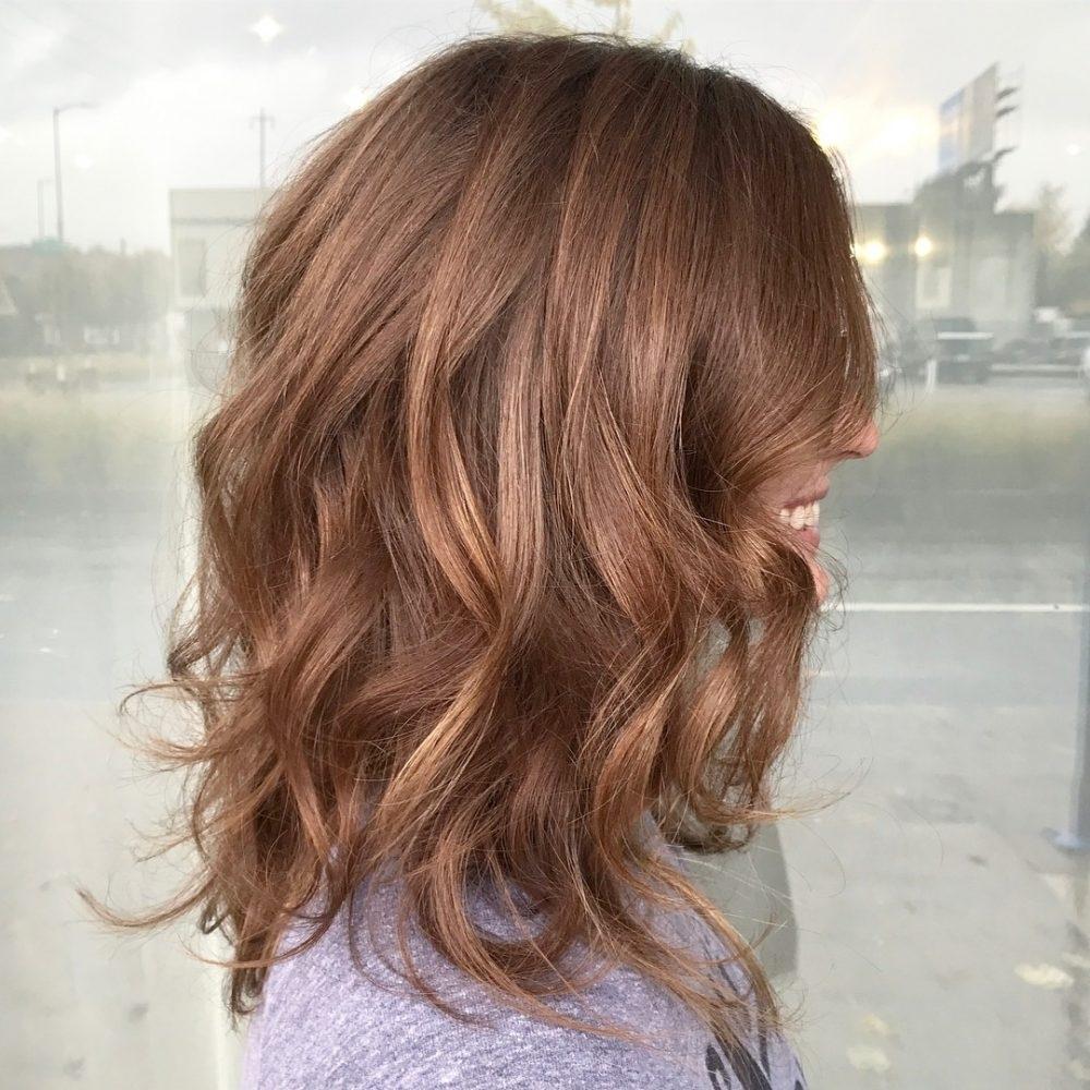 37 Chic Medium Length Wavy Hairstyles In 2018 regarding Haircut For Wavy Hair Shoulder Length