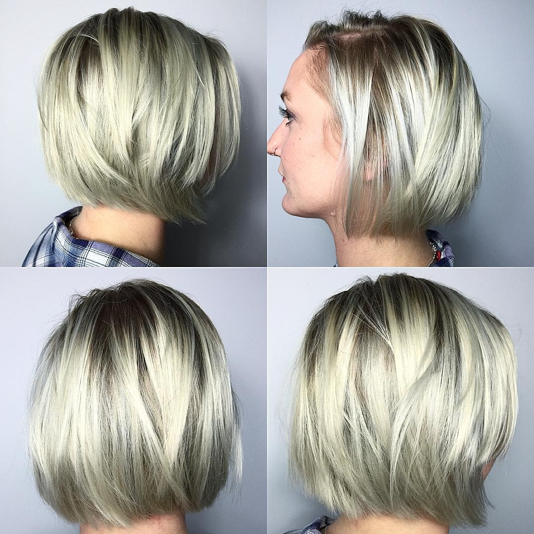 40 Most Flattering Bob Hairstyles For Round Faces 2018 - Hairstyles regarding Bob Haircut 2018 Thick Hair