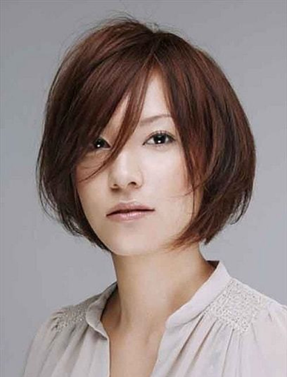 Short Haircut For Square Face Korean Wavy Haircut