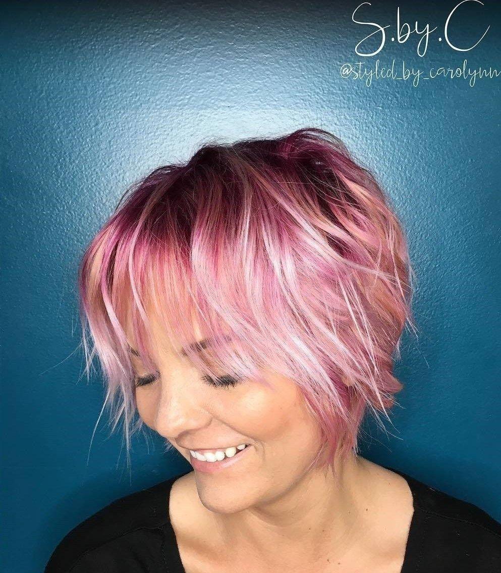 70 Devastatingly Cool Haircuts For Thin Hair | Pastel Pink, Pastels throughout Haircuts For Thin Hair Choppy