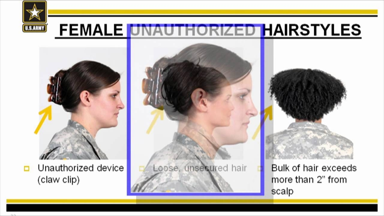Ar 670-1 Female Grooming Standards - Youtube in Haircut Regulations In The Army