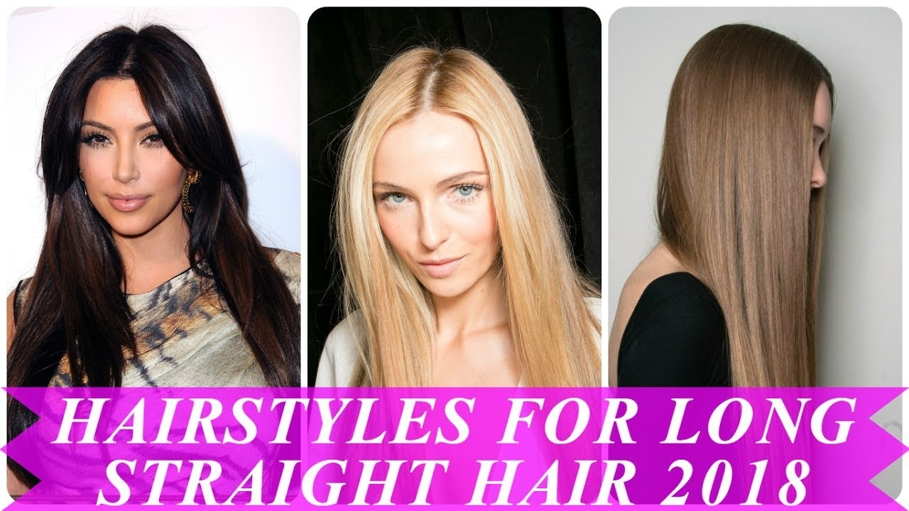 Beautiful Hairstyles For Straight Long Hair For Women - Youtube intended for Haircut 2018 For Long Face