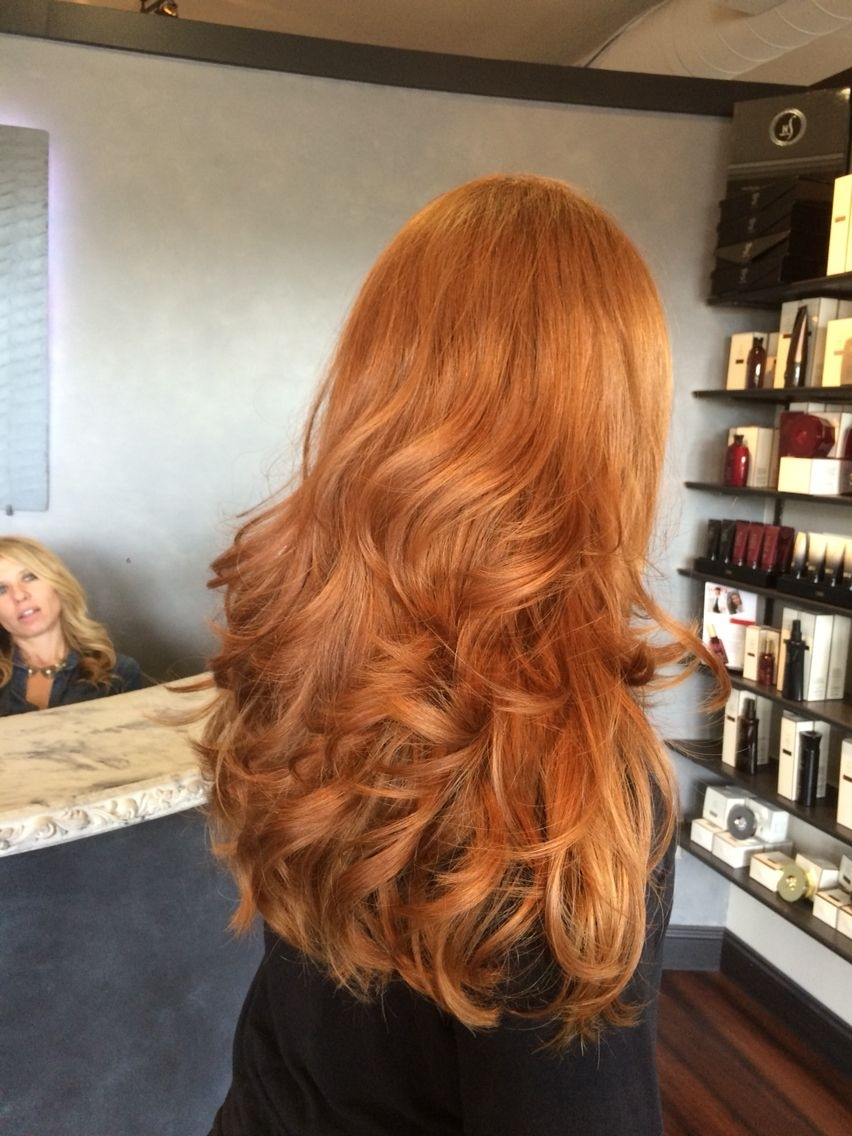Beautiful Long Thick Natural Red Head. Haircut By Angela Rose | Hair pertaining to Haircuts For Thick Red Hair