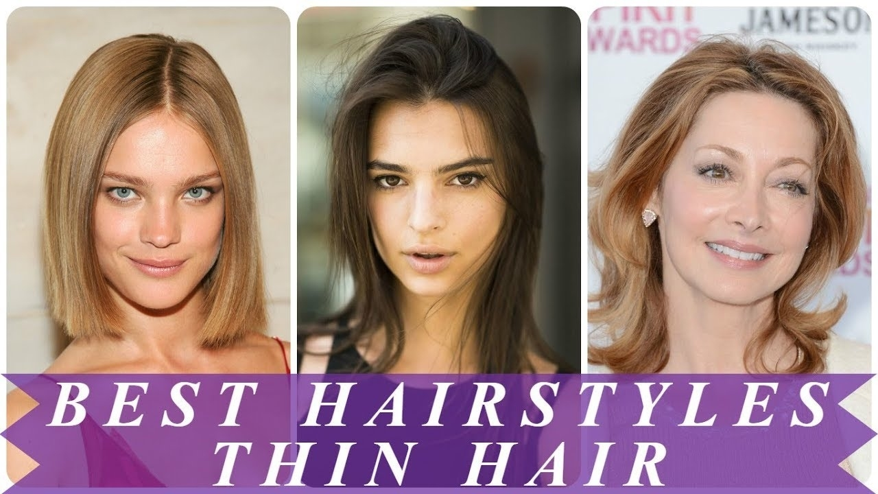 Best Hairstyles For Thin Straight Hair 2018 For Women - Youtube with regard to Haircuts 2018 Female Thin Hair