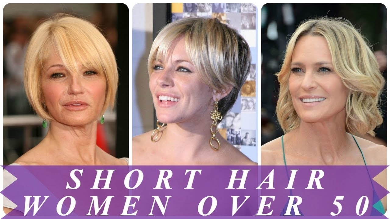 Best Short Hairstyles For 50 Year Old Woman 2018 - Youtube intended for 2018 Haircut For 50 Year Old Woman