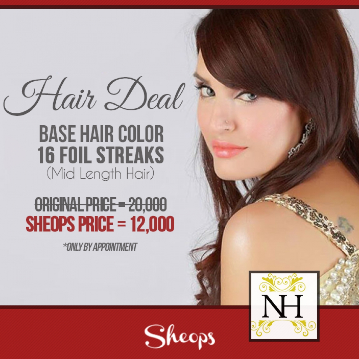 Buy Hair Deal By Nadia Hussain Salon & Clinic In Karachi - Sheops within Haircut Salon Deals In Karachi