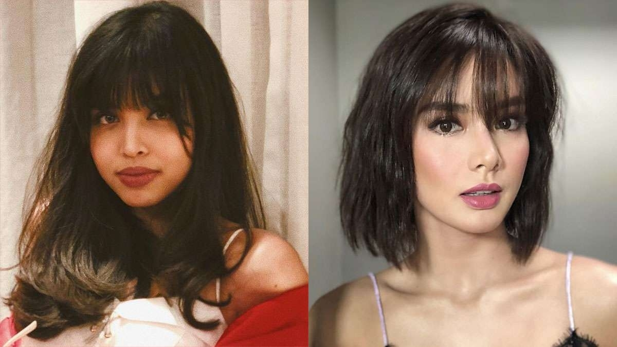 Celebrity Bangs + Hairstyles 2018 | Cosmo.ph throughout Haircut 2018 Female With Bangs