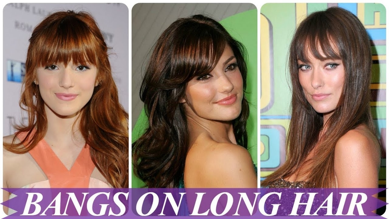 Chic Hairstyles For Long Hair With Bangs 2018 For Women - Youtube inside Hairstyle 2018 Female With Bangs