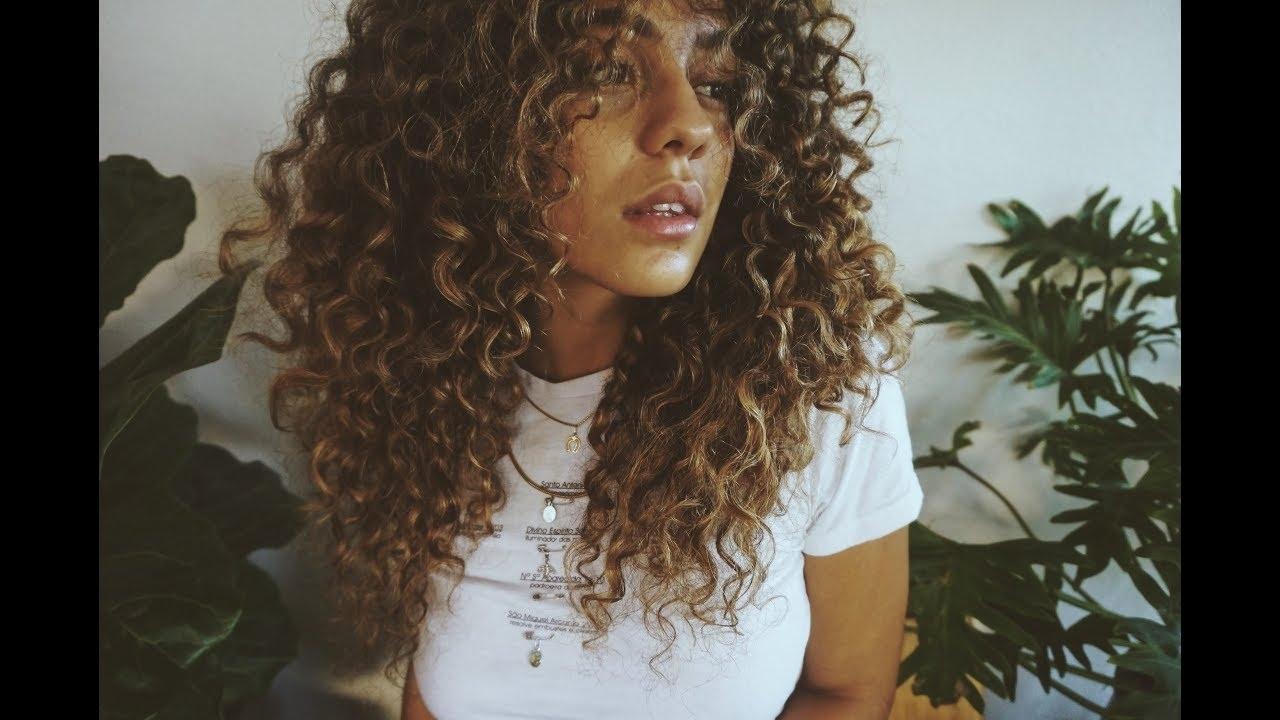 Curly Hair Routine + Diy Hair Cut - Youtube for Cutting Wavy Hair At Home