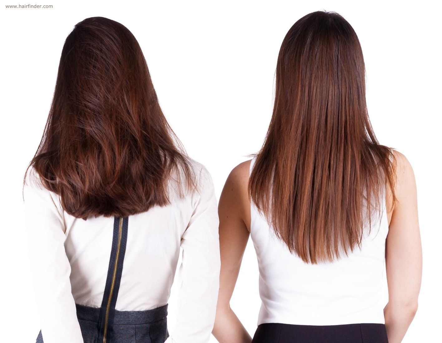 Cut The Back Of Long Hair In A U-Shape, V-Shape Or A Straight Line inside U Shape Hair Cut For Thin Hair