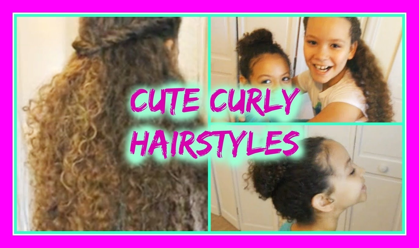 Cute Hairstyles For Curly Hair - Youtube within Hairstyle For Curly Hair Girl