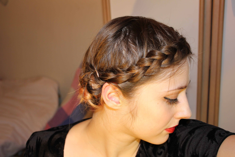 Easy Braided Updo For Short, Fine Hair - Youtube for Haircuts For Thin Fine Hair Youtube