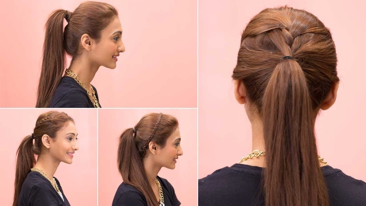 Easy Ponytail Hairstyles For Thin Hair - Youtube throughout Hairstyle For Thin Hair Ponytail