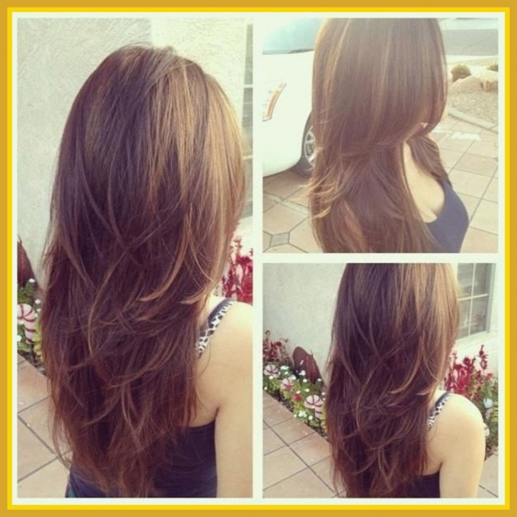 Fascinating Layered Haircut For Long Wavy Hair Back View Image With regarding Layered Haircut For Long Wavy Hair Back View