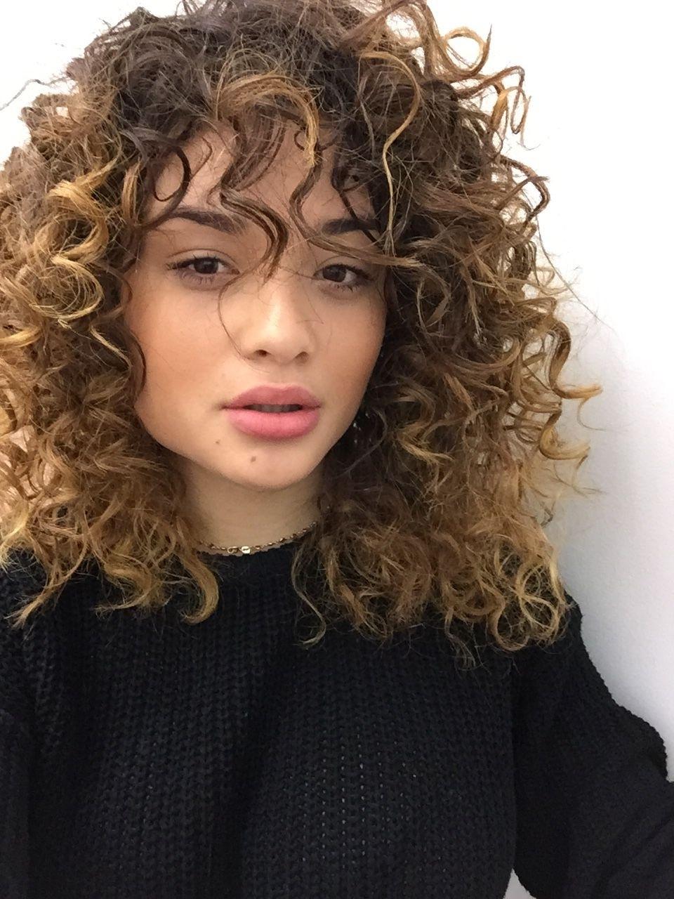 Feminist Barbie   Humans   Pinterest   Curly, Haircuts And Bangs for Haircuts For Curly Hair With Bangs