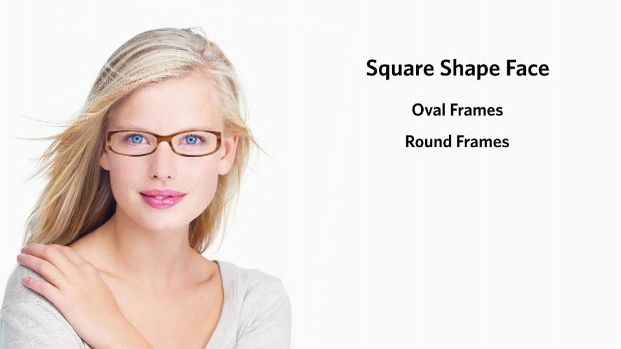 Frames For A Square Face Shape - Female - Youtube with Hairstyle For Square Face With Glasses