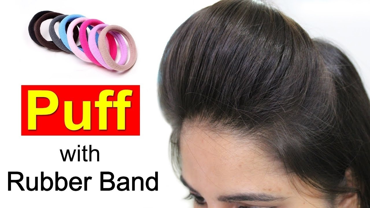 Front Puff For Thin Hair   Quick & Easy Hairstyles With Puff - Youtube throughout Puff Hairstyle For Thin Hair Video