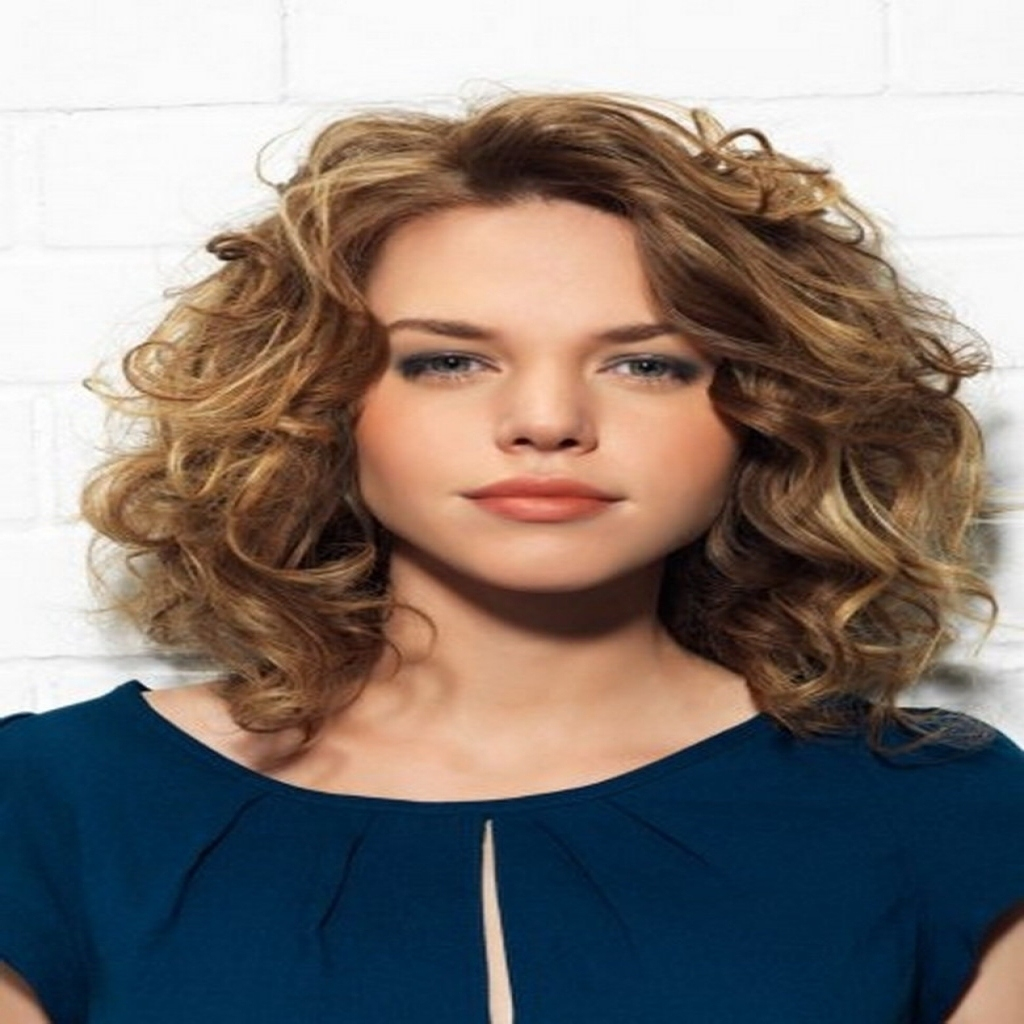 Hairstyles For Thin Curly Hair: Haircuts For Thin Curly Hair Round Face