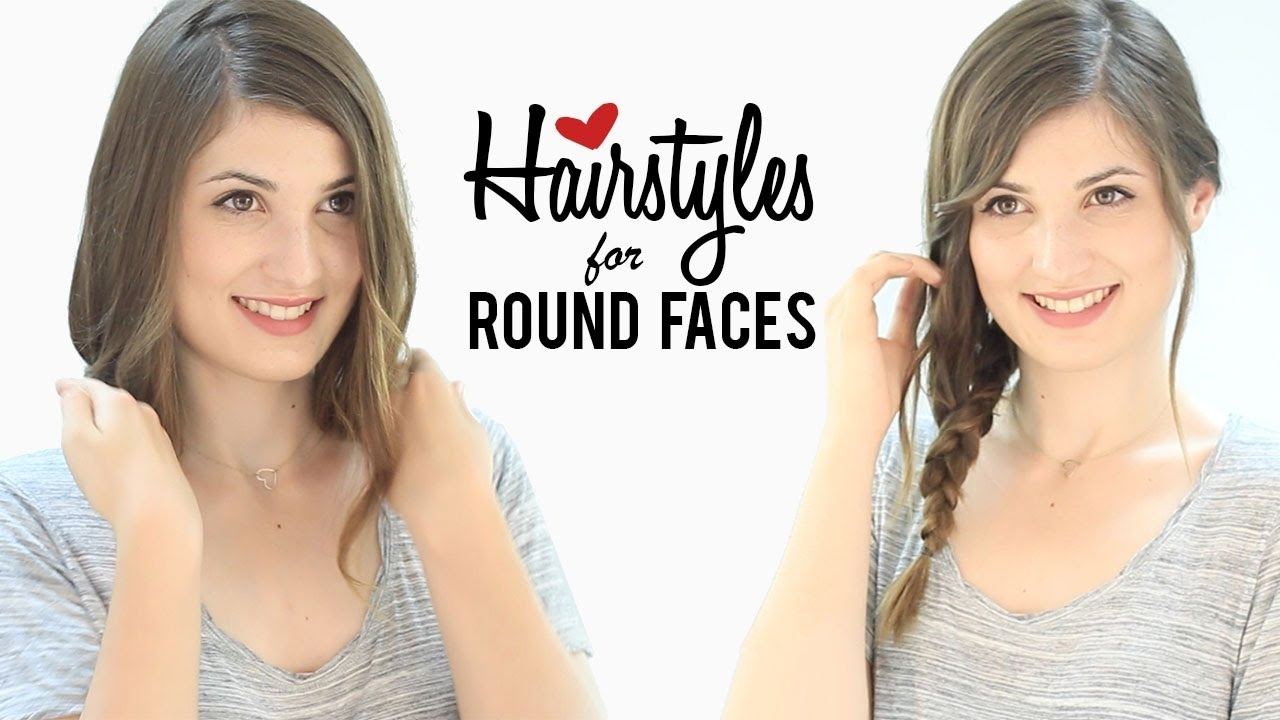 Haircuts And Hairstyles For Round Faces   Tips And Tricks - Youtube for Haircut For Round Face To Look Slim
