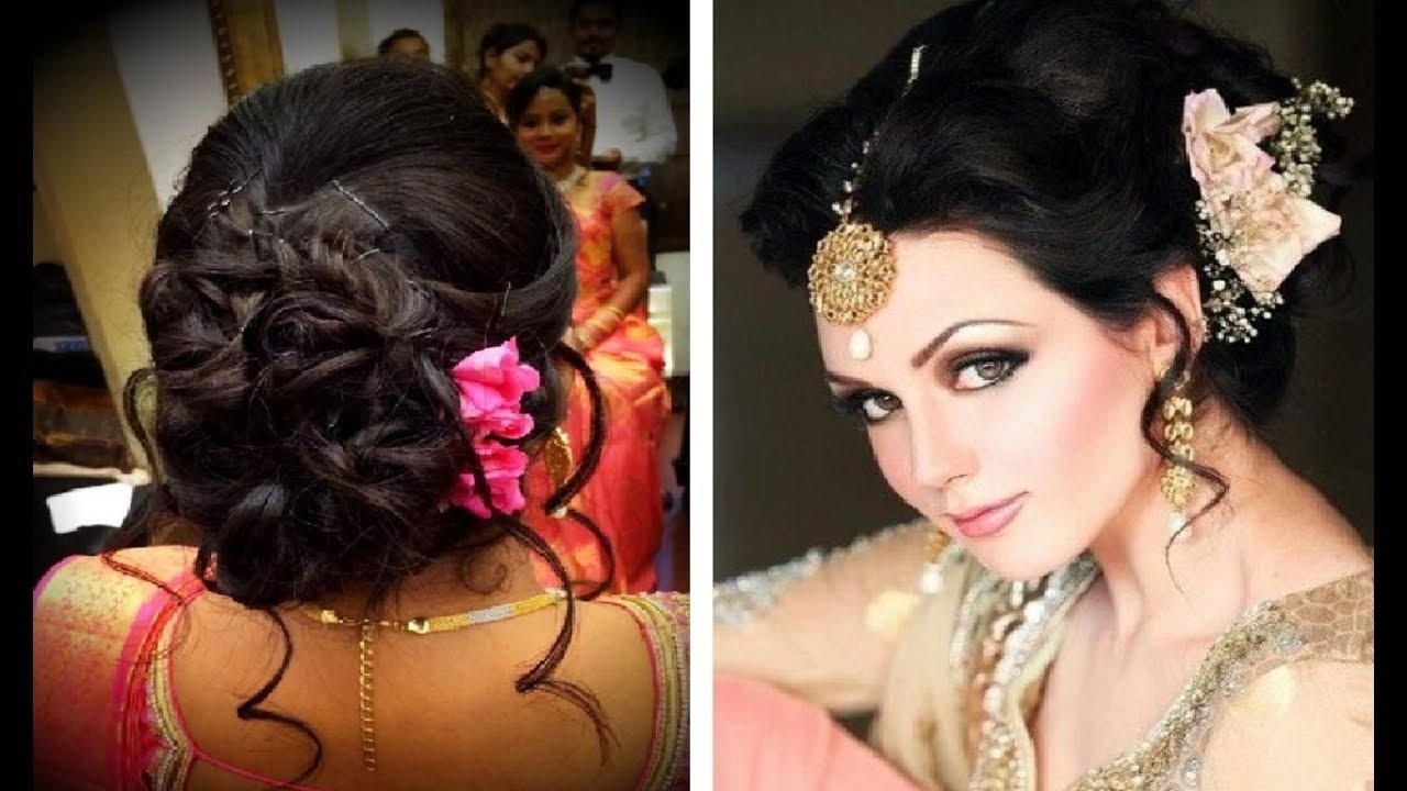 Hairstyle For Thin Hair In Saree - Youtube within Hairstyle For Thin Hair In Saree
