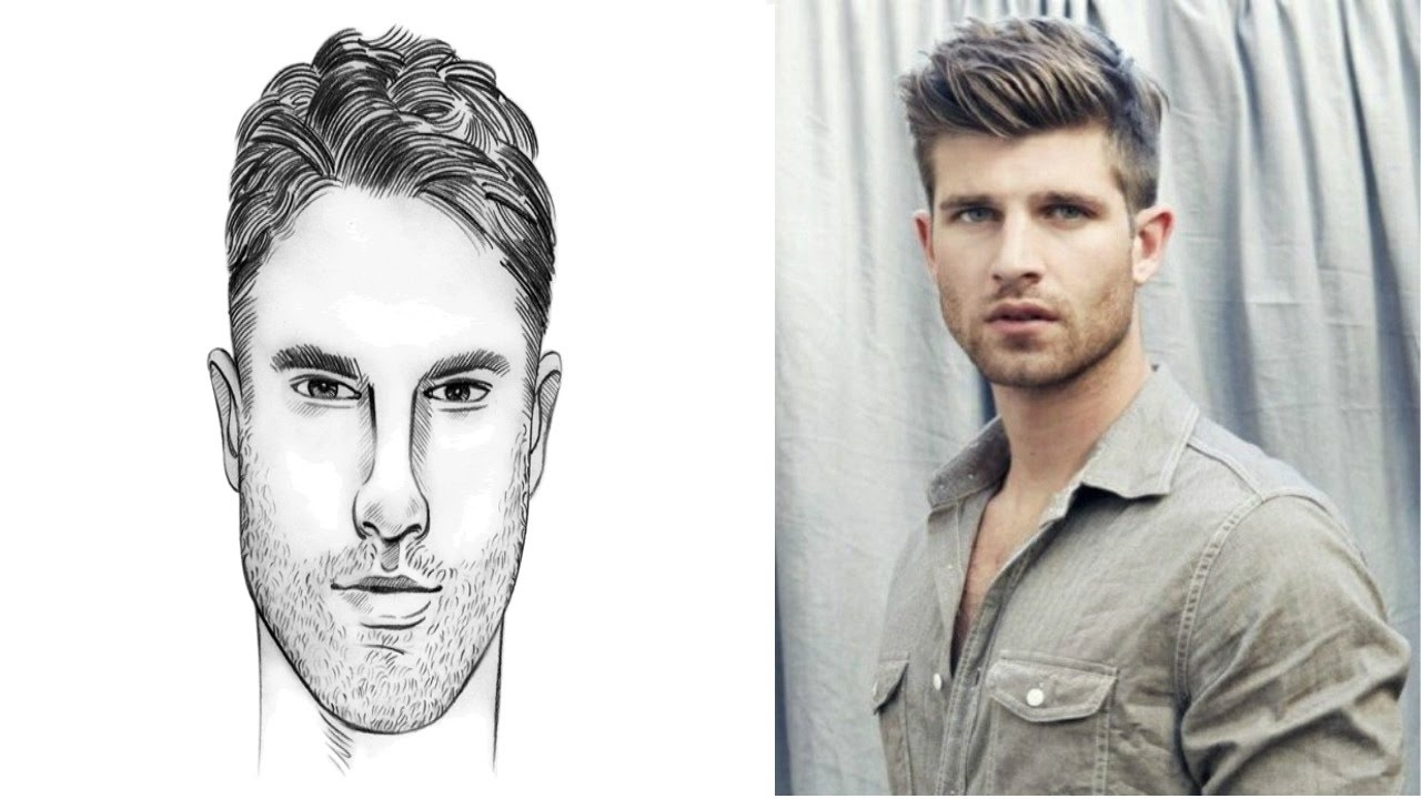 Hairstyle For Oval Face For Male Wavy Haircut