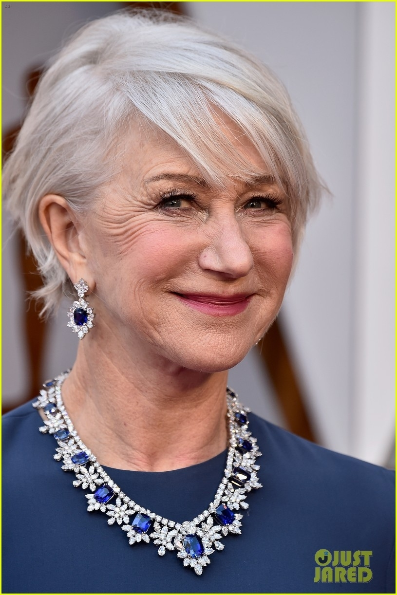 Helen Mirren Models Jet Ski To Be Given To Winner With Shortest within Helen Mirren Haircut 2018 Oscars