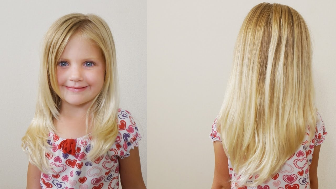 How To Cut Girls Hair // Long Layered Haircut For Little Girls - Youtube for Haircut For Girls Long Hair