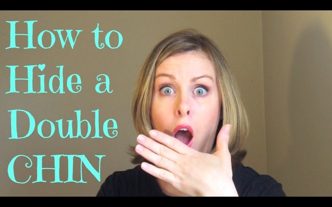 How To Hide A Double Chin - Youtube for Hairstyle For Oval Face Double Chin