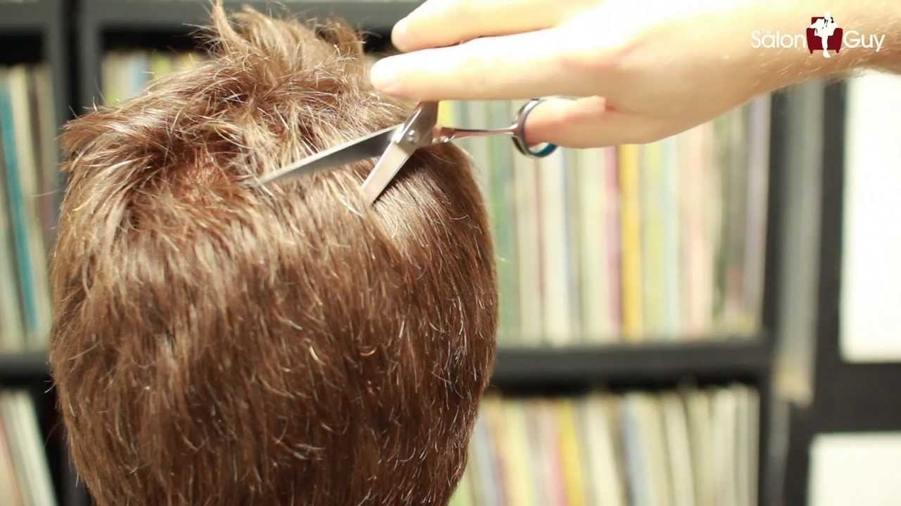 How To Thin Out Thick Hair - Haircutting Techniques - Youtube with Haircut Techniques For Thick Hair