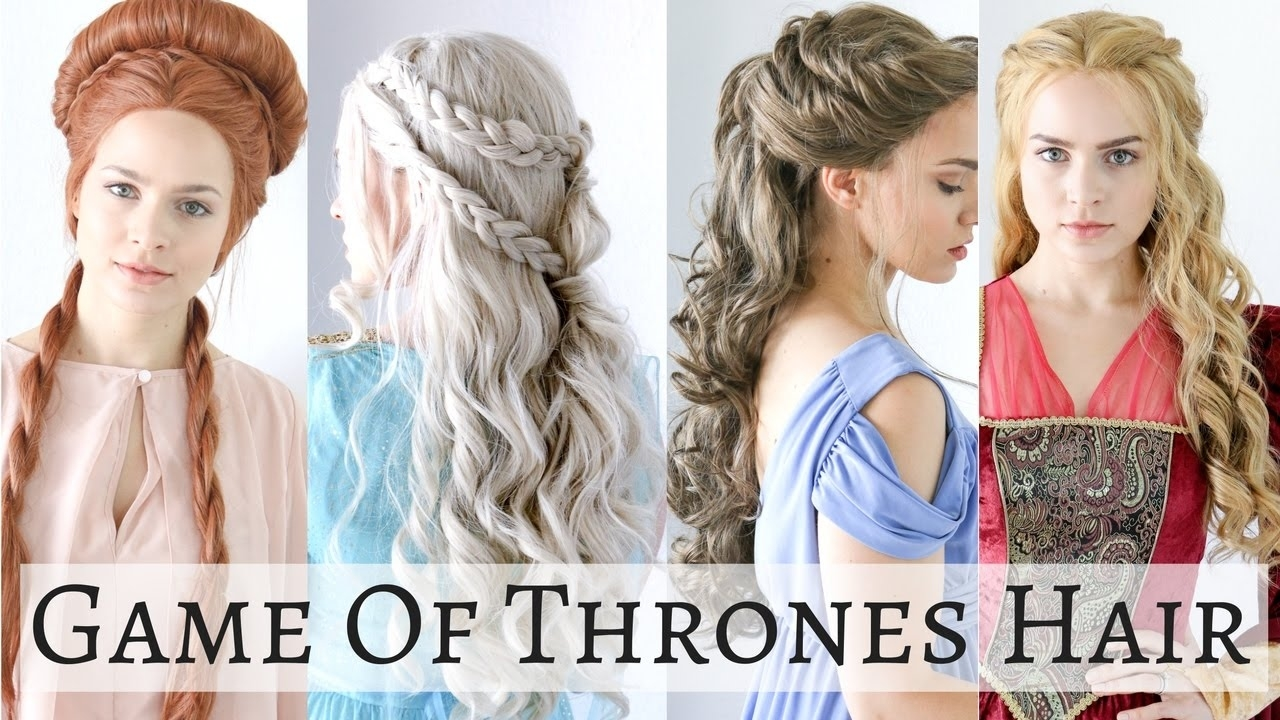 Iconic Game Of Thrones Hairstyles - Hair Tutorial - Youtube for Haircuts For Curly Hair Games