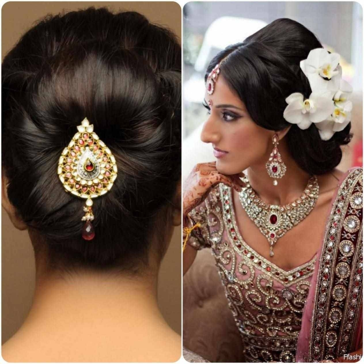 Indian Indian Wedding Hairstyle For Round Chubby Face Bridal - Hairstyle regarding Hairstyle For Round Face Indian Bride