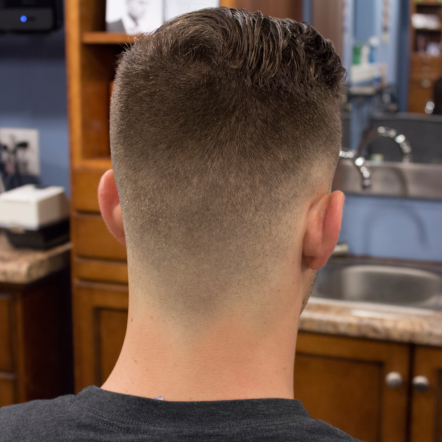 """John's """"military Rockabilly"""" Haircut Was Done With An Andis T regarding Army Haircut Front And Back"""
