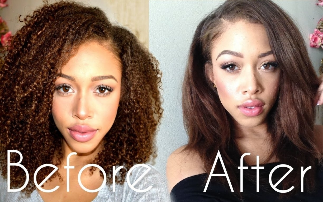 Kinky, Curly Hair: Blow Out, Straighten, Curl - Youtube   Best for Haircuts For Curly Hair That Can Be Straightened