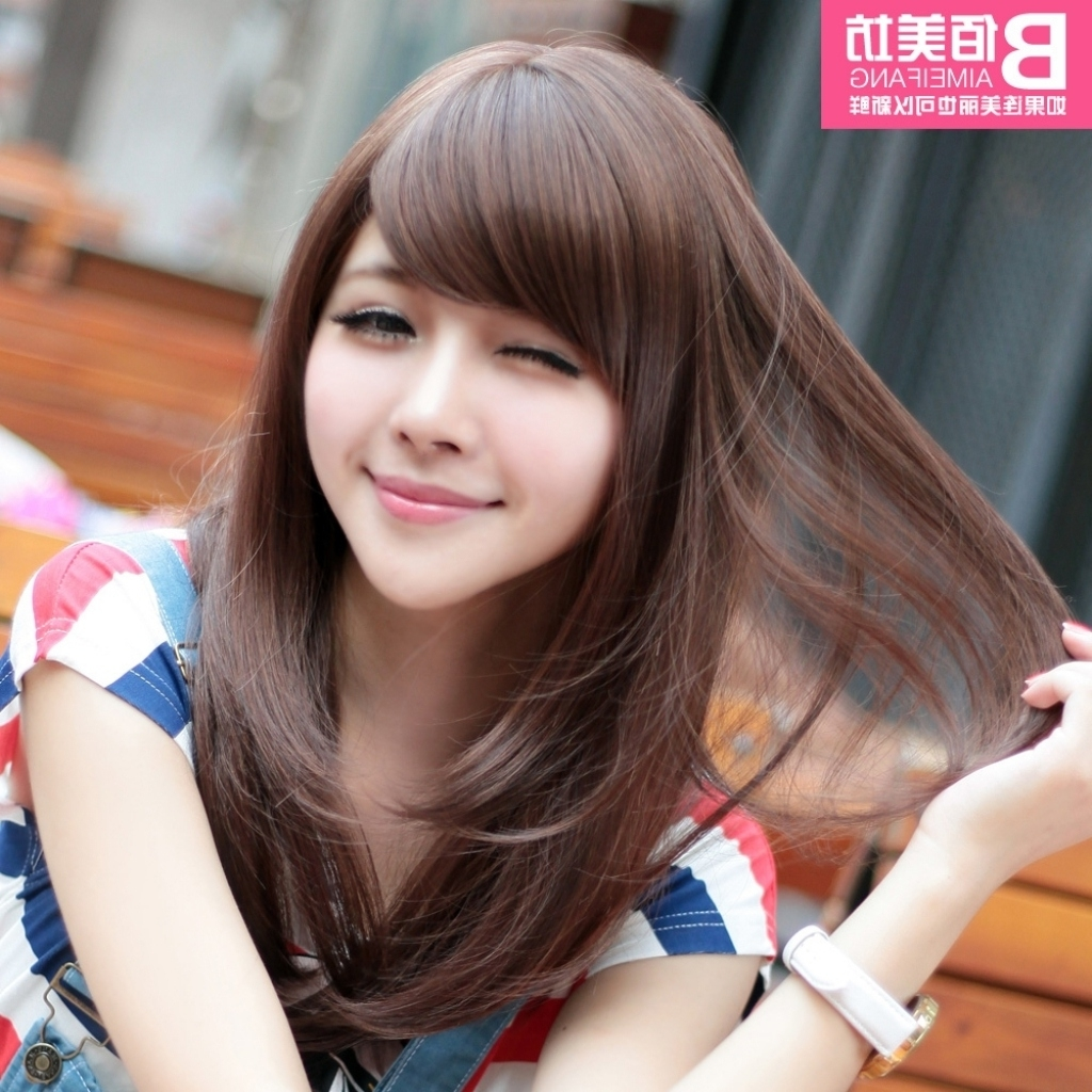 Korean Haircut For Long Straight Hair Korean Hairstyle For Round inside Korean Haircut For Round Face Straight Hair