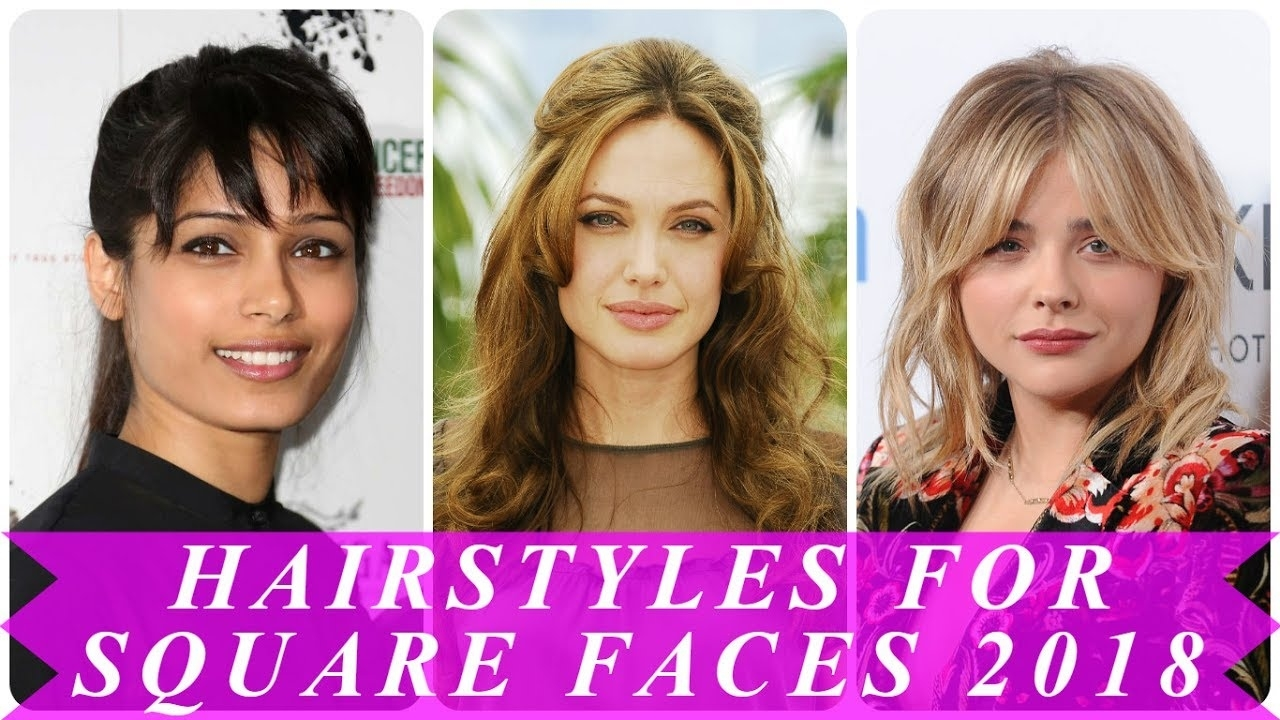 Latest Short Hairstyles For Square Faces Female - Youtube within 2018 Haircuts Female Square Face