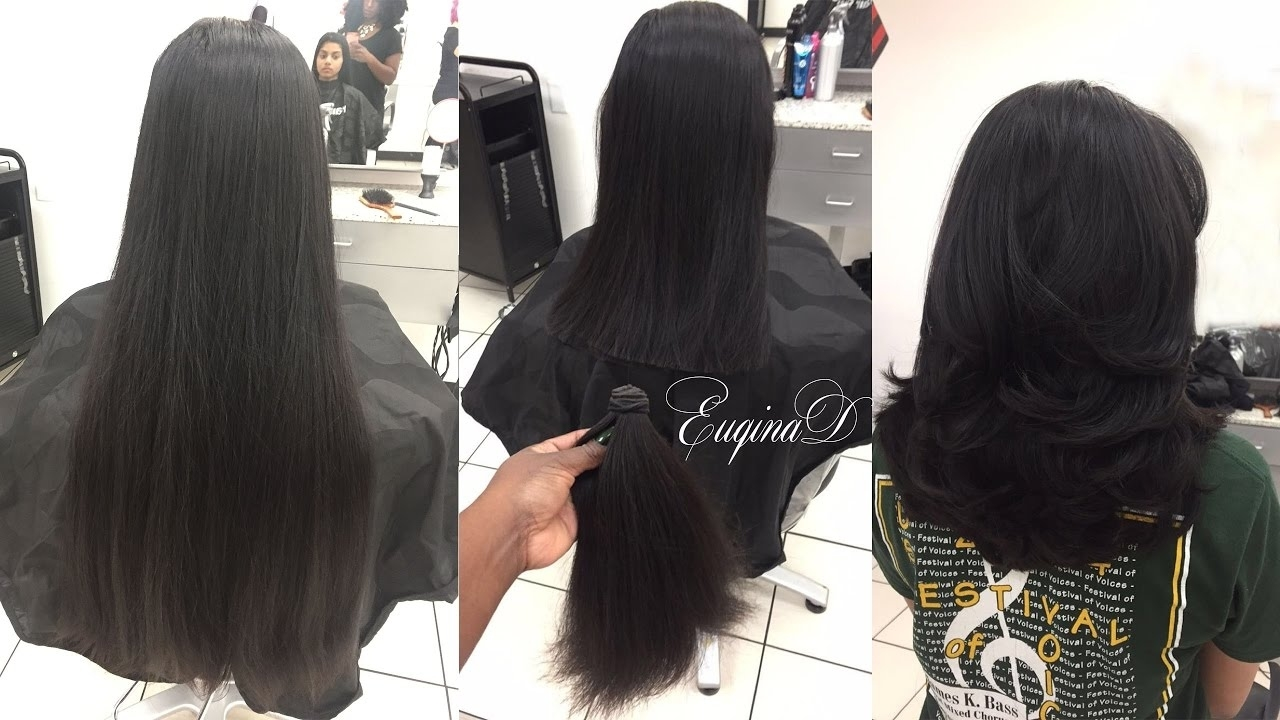 Layered Haircut After Locks Of Love Donation Thick Indian Hair - Youtube for Haircuts For Thick Indian Hair