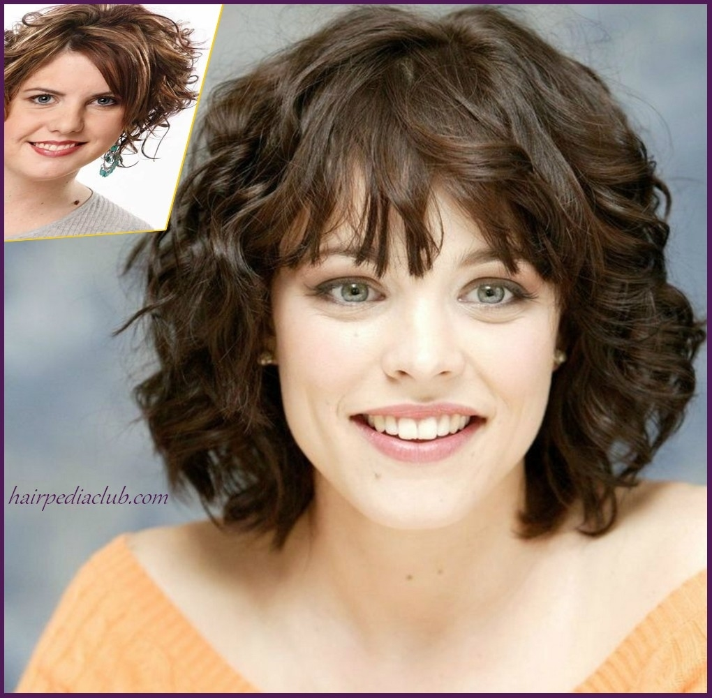 Layered Short Haircuts For Curly Hair And Round Faces - Hairstyles with regard to Haircut For Round Face Girl With Wavy Hair