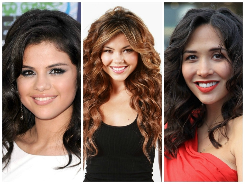 Long Curly Hairstyles For A Round Face - Hair World Magazine with Bangs For Wavy Hair And Round Face