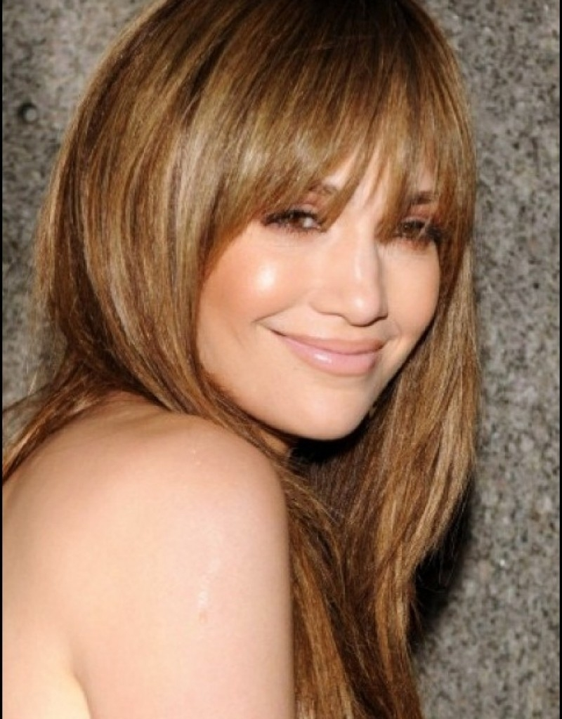 Long Hairstyles Fringe Oval Face - Hollywood Official intended for Haircut For Oval Face With Bangs