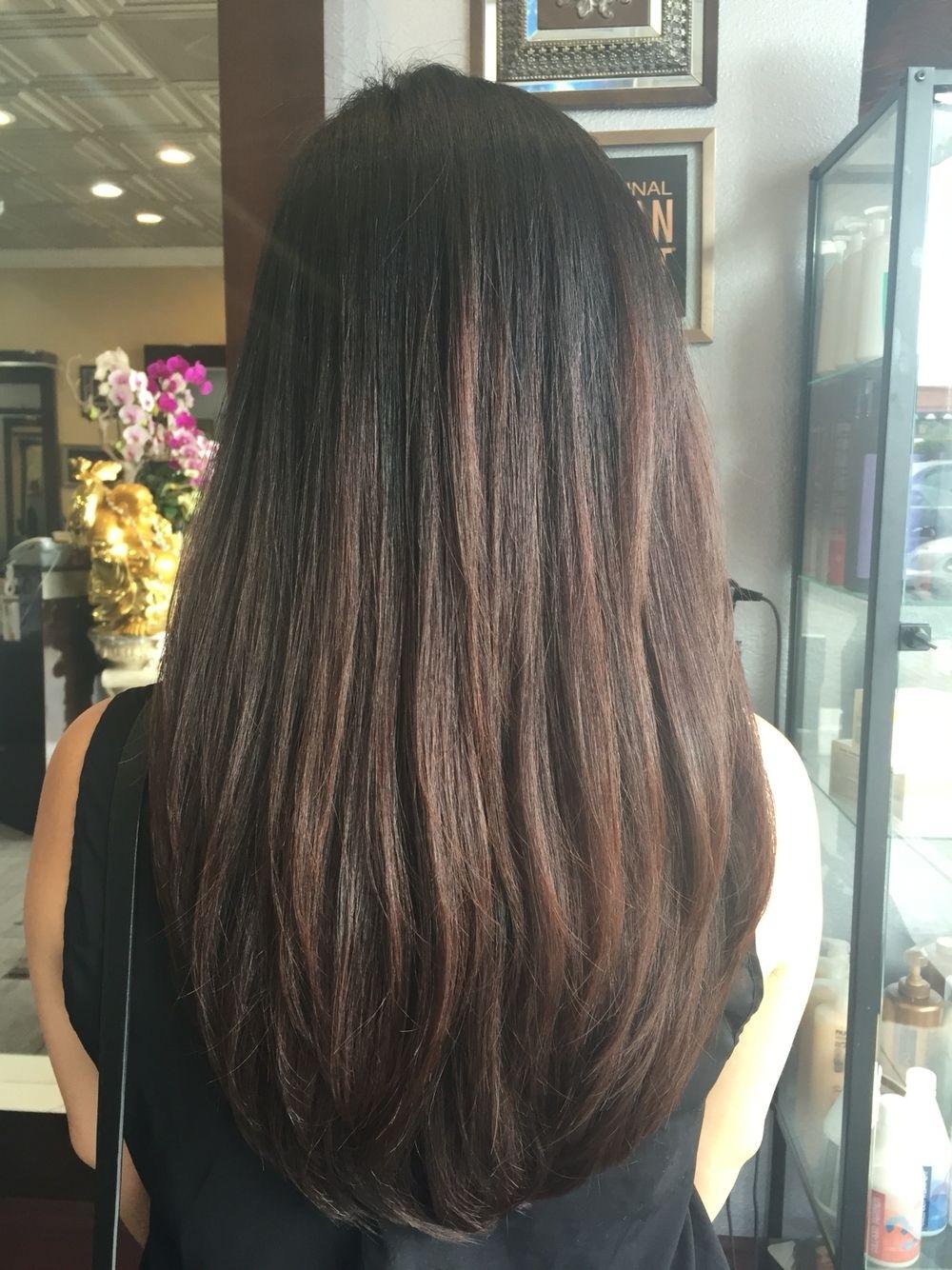 U Shaped Haircut For Thin Hair - Wavy Haircut