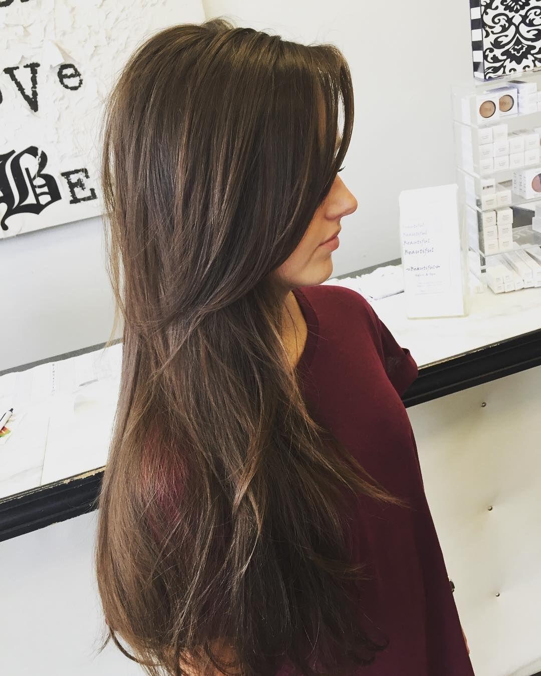 Long Layers For Thin Hair … | Haircut | Pinte… throughout V Haircut For Thin Hair