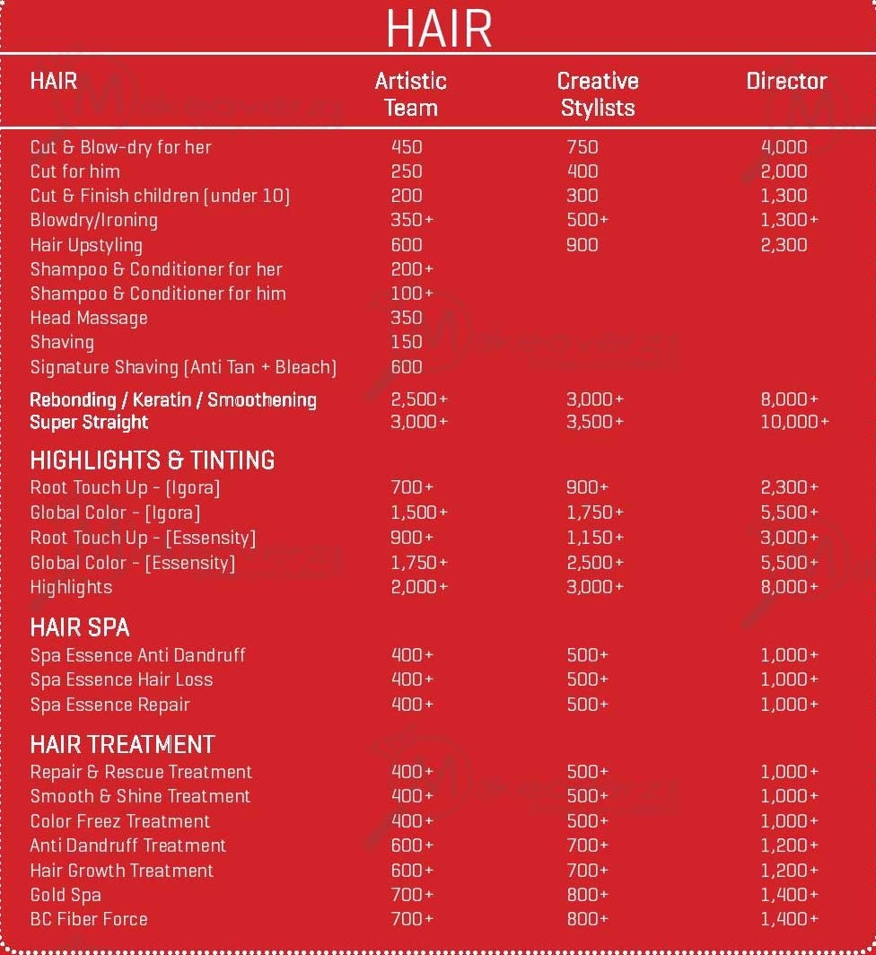 Haircut Prices Jawed Habib Salon Wavy Haircut