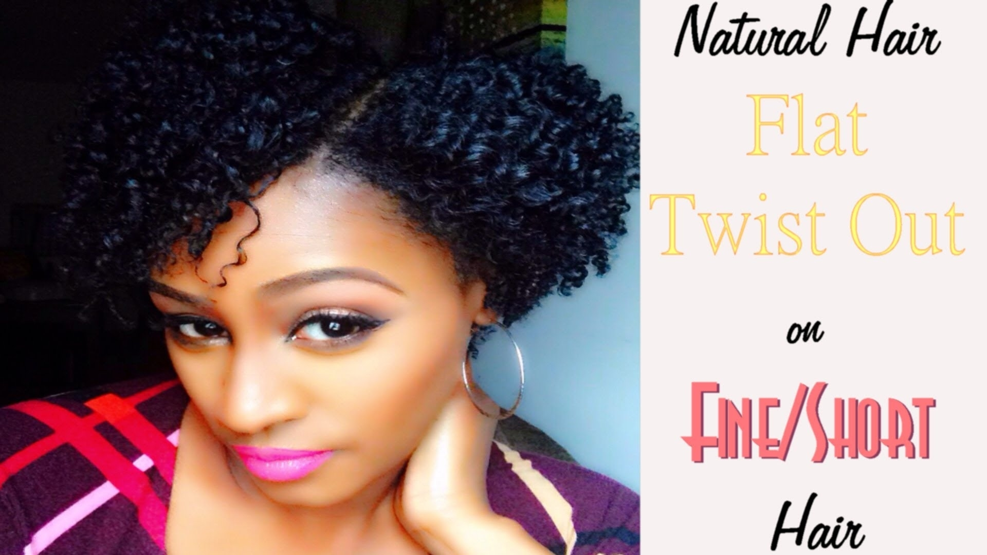 Natural Hair | Flat Twist Out On Fine/short Hair - Youtube within Short Haircuts For Thin Natural Hair